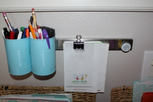 Family Command Center with Magnetic Knife Strip | missfrugalfancypants.com