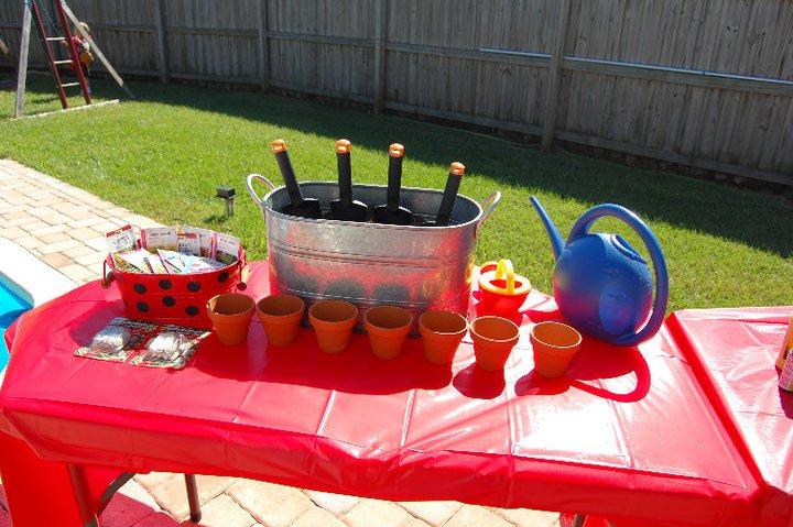 Outdoor Ladybug Garden Party Activities| missfrugalfancypants.com