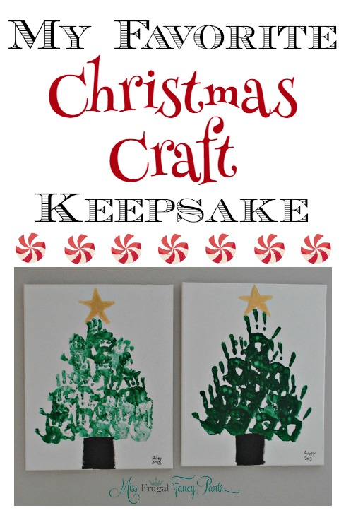Adorable Christmas Craft Keepsake for Kids using Handprints | missfrugalfancypants.com