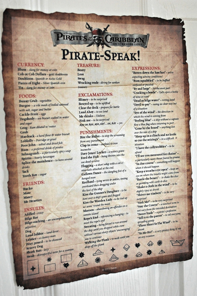 Pirate Party Speak | missfrugalfancypants.com