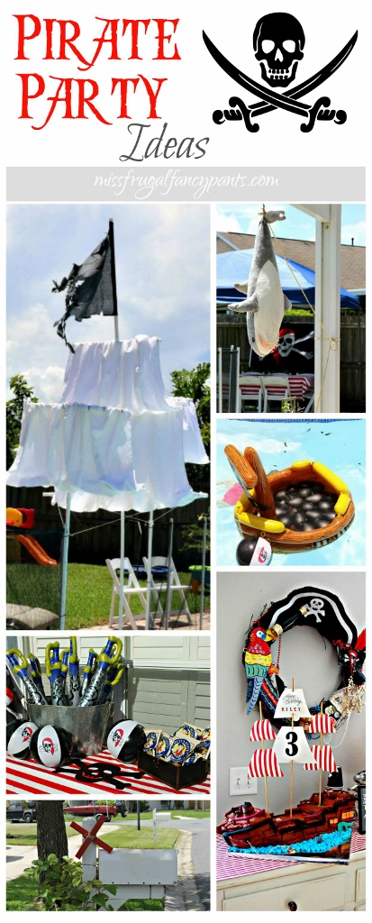 Outdoor Pirate Party Ideas   missfrugalfancypants.com