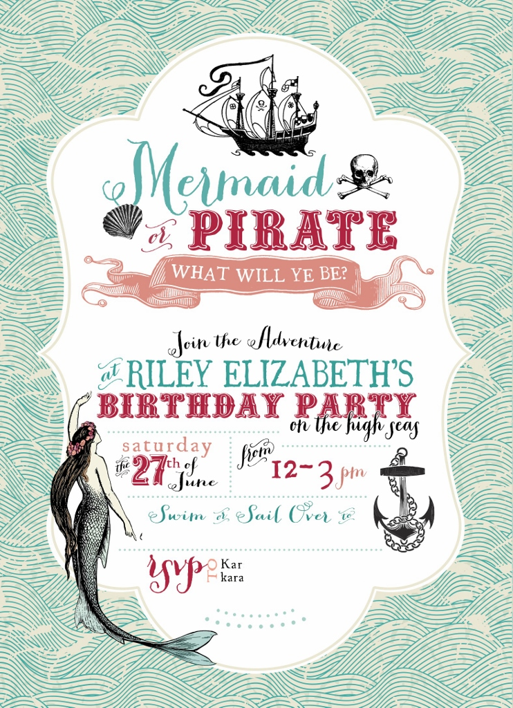 Pirate Party Invitation | missfrugalfancypants.com