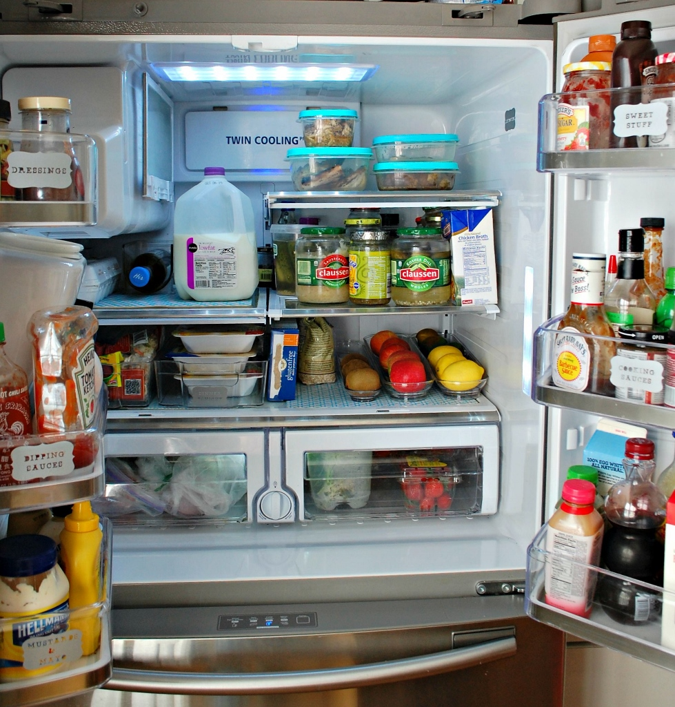 Fridge Organization to Reduce Waste | missfrugalfancypants.com
