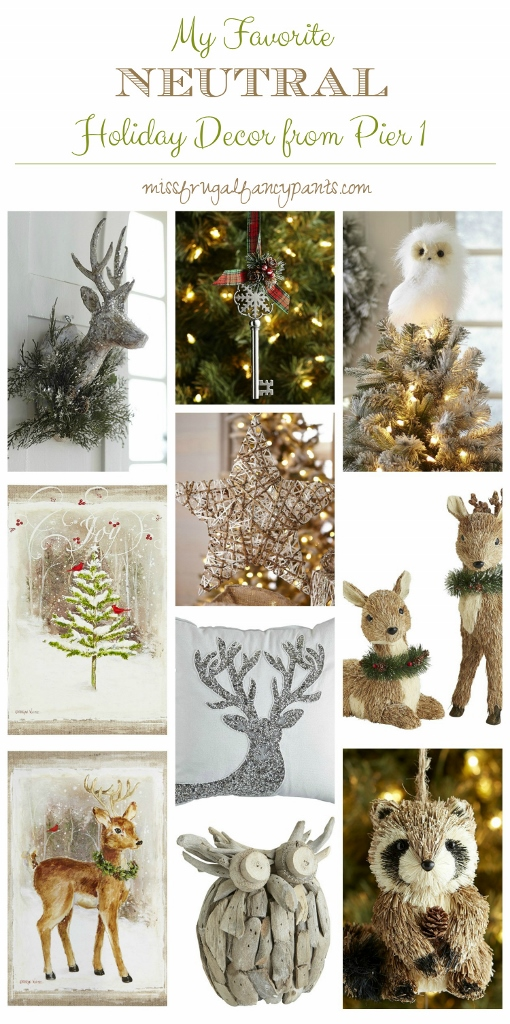 Top Picks from Pier 1 for Neutral & Rustic Holiday Decor | missfrugalfancypants.com