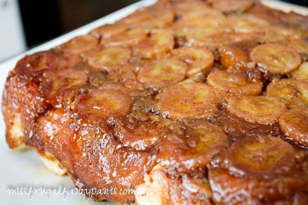 Bananas Foster Baked French Toast | Easter Brunch Recipes | missfrugalfancypants.com