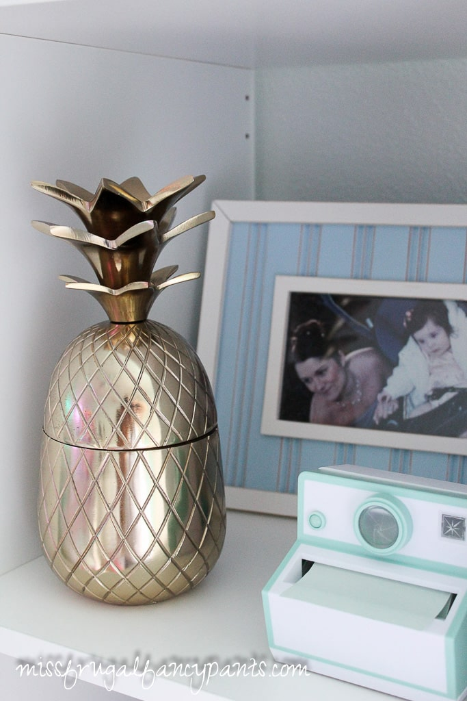 Tween Room Makeover - Pineapple | missfrugalfancypants.com