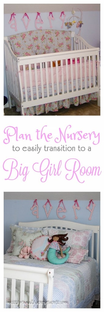 Original Shabby Chic Nursery Turned Shabby Chic Big Girl Room | missfrugalfancypants.com