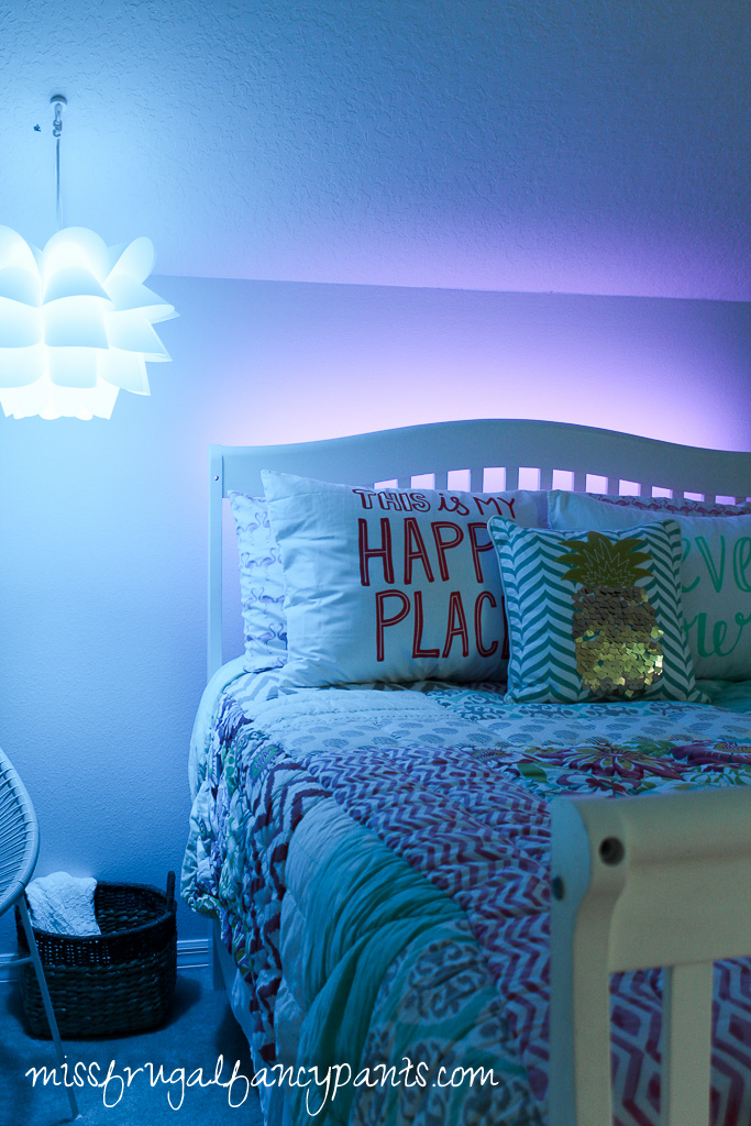 Tween Room Makeover with Osram Lightify Lighting | missfrugalfancypants.com