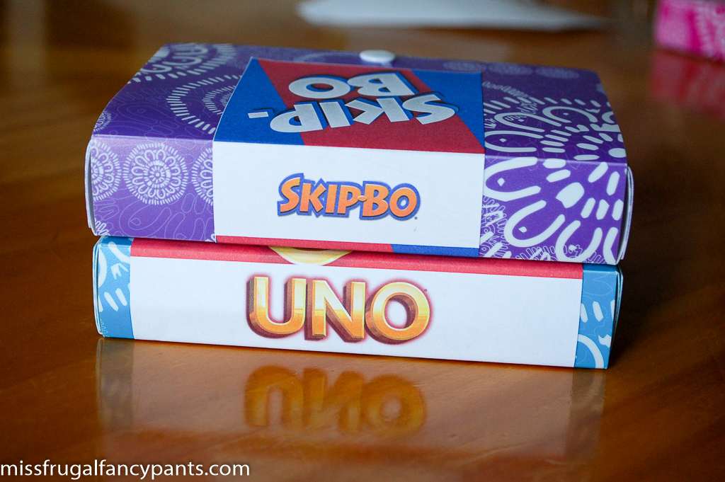 DIY Uno Cards / Skip-Bo Cards Replacement Box | missfrugalfancypants.com