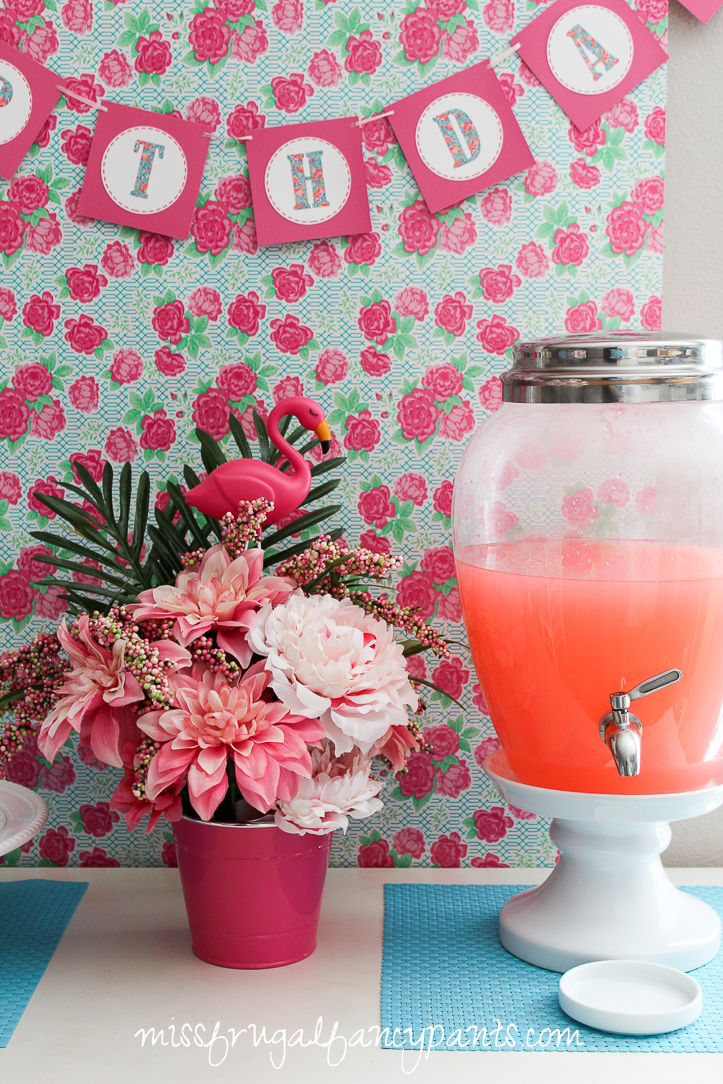 Lilly Pulitzer | Cabana Party | Flamingo Birthday Party | missfrugalfancypants.com