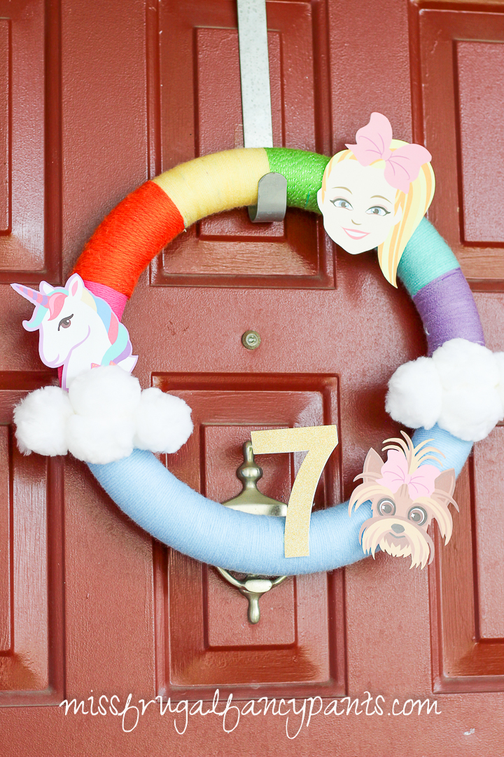 JoJo Siwa Birthday Party - Unicorns and Rainbows - Wreath