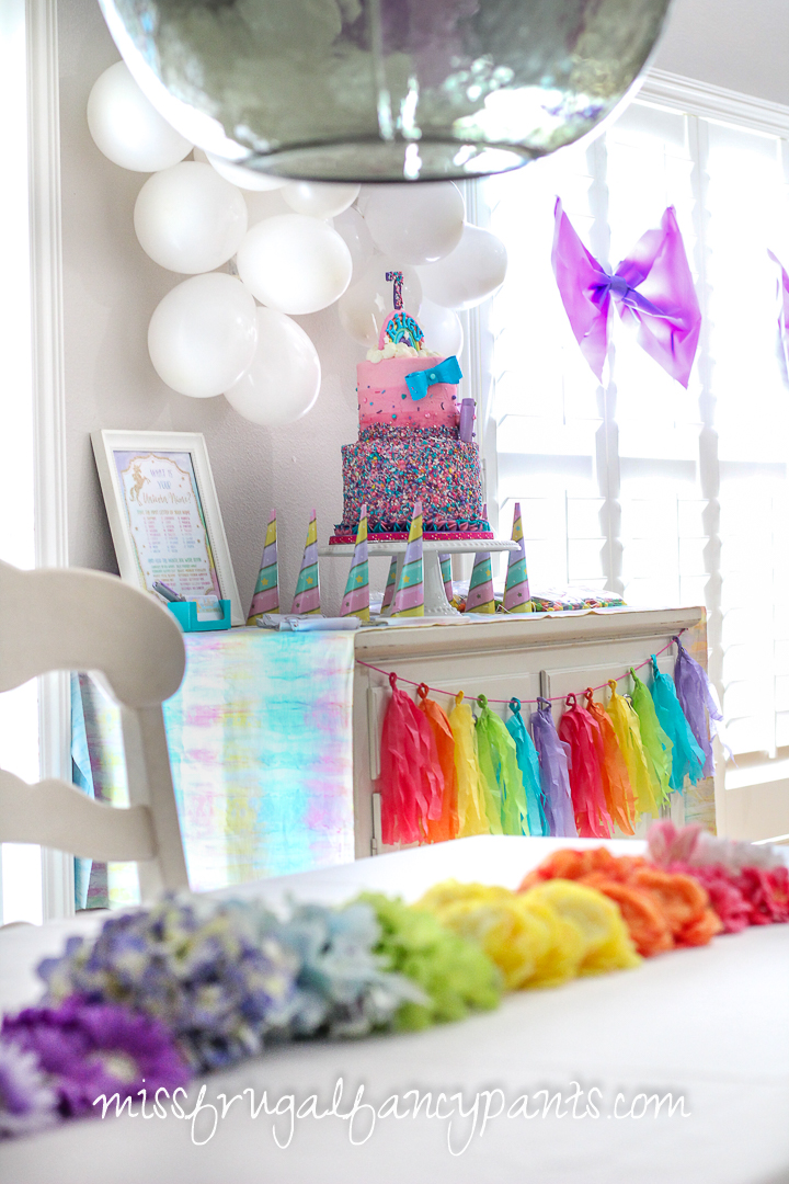 JoJo Siwa Birthday Party - Unicorns and Rainbows